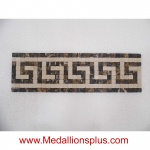 "Greek II, Mosaic Tile Listello 4"" x 13 1/2"""